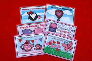 Printable girl valentine cards