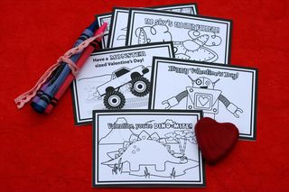 Printable color your own valentine cards
