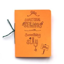 Something-serious-orange-journal